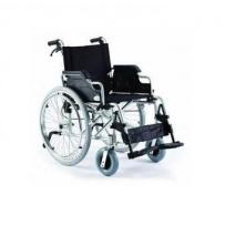 Wózek inwalidzki aluminiowy z hamulcami pomocniczymi